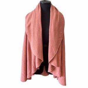 Pink Draped Shawl Vest Sweater